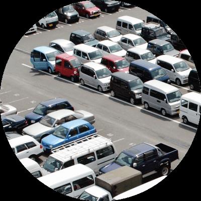 車両製造・整備の一時保管エリアの位置管理