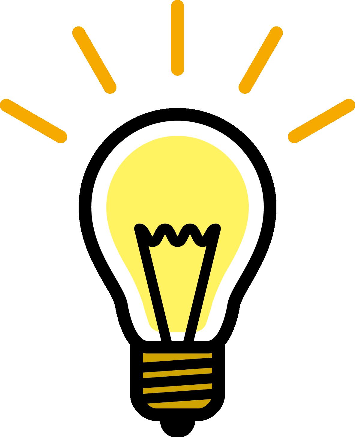電球が光るマーク
